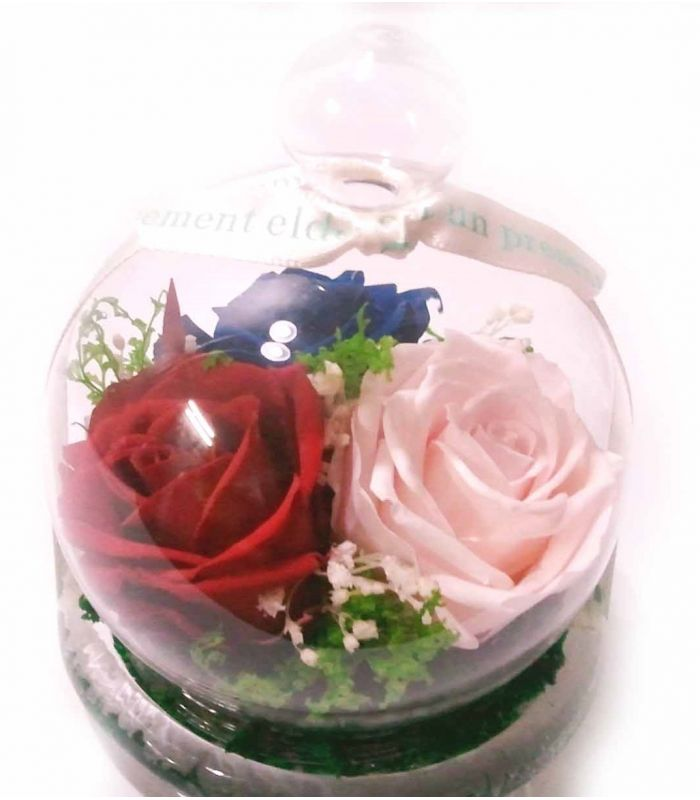 Bomboneras con rosas preservadas